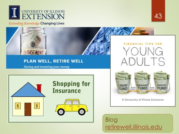 Plan Well, Retire Well blog from University of Illinois Extension