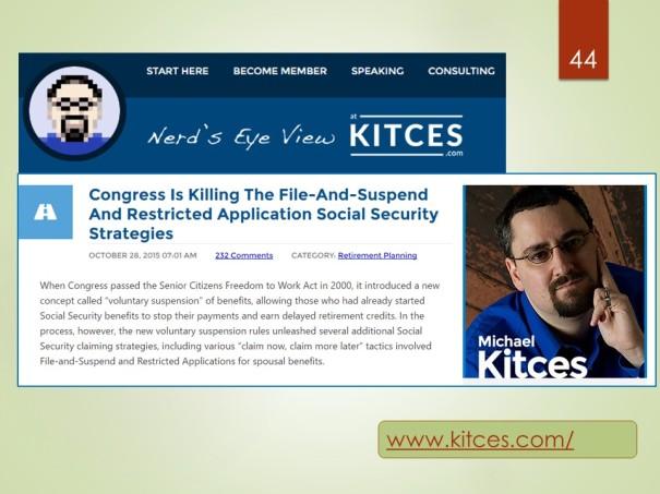 Michael Kitces, blog, Nerd's Eye View