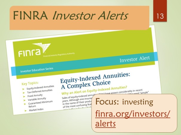 FINRA Investor Alerts - list page