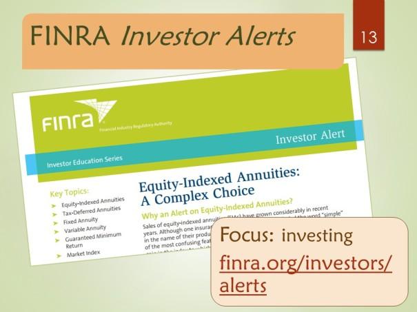 FINRA Investor Alerts - list page