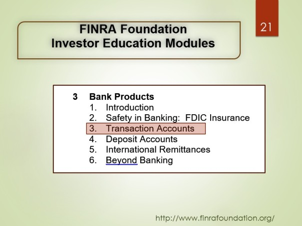 Investor Education Modules