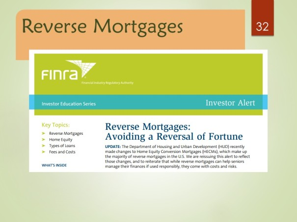 Reverse Mortgages: Avoiding a Reversal of Fortune
