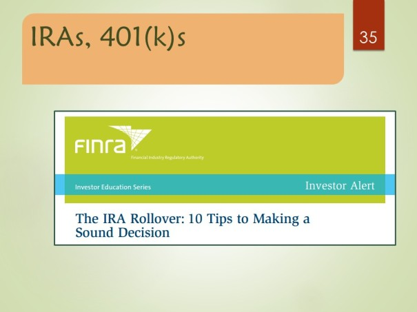 The IRA Rollover: 10 Tips to Making a Sound Decision